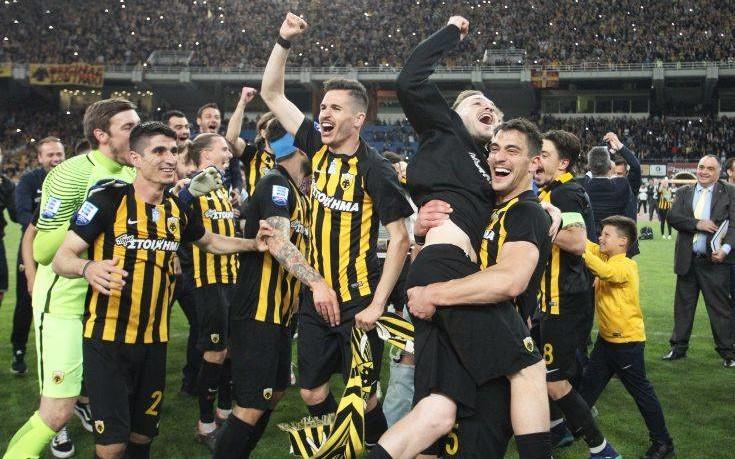 To πάρτι της ΑΕΚ για το πρωτάθλημα μετά από 24 χρόνια