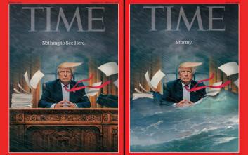 Το πρωτοσέλιδο του Time που «καίει» τον Τραμπ με μια εικόνα και έξι γράμματα