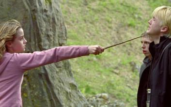 Η Ερμιόνη Γκρέιντζερ ήταν τσιμπημένη με τον Ντράκο Μαλφόι στα γυρίσματα του «Χάρι Πότερ»!