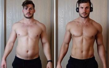 Η εντυπωσιακή αλλαγή στο σώμα ενός νεαρού μέσα σε 12 εβδομάδες