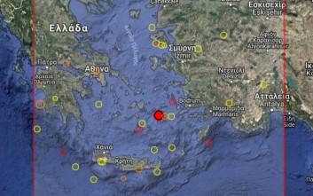 Σεισμός τώρα βόρεια της Αστυπάλαιας