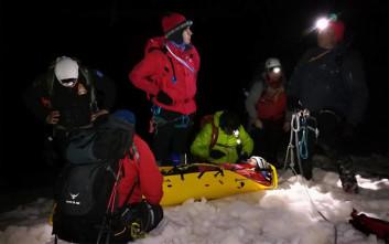 Βίντεο και φωτογραφίες από τη διάσωση του ορειβάτη στον Όλυμπο