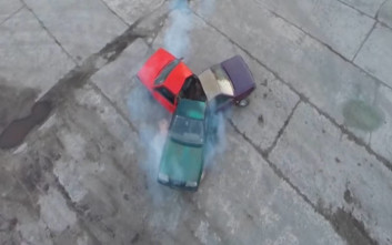 Ρώσοι έφτιαξαν fidget spinner από αυτοκίνητα