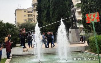 Πήγαν να κόψουν με αλυσοπρίονο το άγαλμα του Τρούμαν
