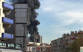 Μεγάλη φωτιά κατακαίει νοσοκομείο στην Κωνσταντινούπολη