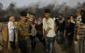 Δεκάδες Παλαιστίνιοι τραυματίστηκαν από ισραηλινά πυρά σε διαδήλωση