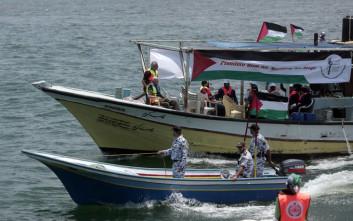 Παλαιστινιακό αλιευτικό προσπάθησε να σπάσει τον αποκλεισμό της Γάζας