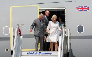 Φωτογραφίες από την άφιξη του πρίγκιπα Καρόλου και της Καμίλα