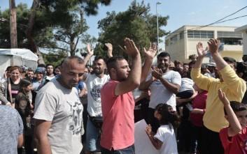 Διαμαρτυρία προσφύγων και μεταναστών στα Διαβατά
