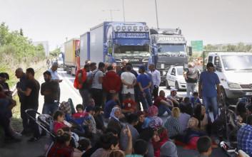 Αποχώρησαν από την Εγνατία οδό οι διαμαρτυρόμενοι πρόσφυγες