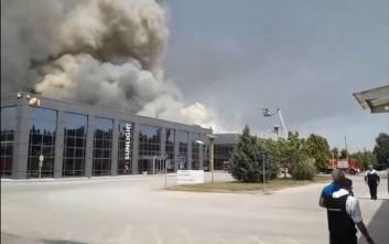 Η επόμενη μέρα της πυρκαγιάς στο εργοστάσιο μπαταριών στο Νέο Όλβιο
