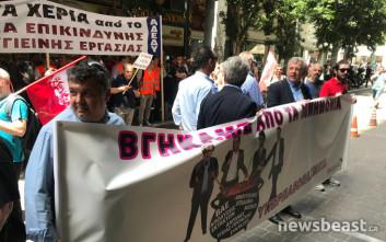 Αποχώρησαν από το υπουργείο Οικονομικών οι διαδηλωτές της ΠΟΕΔΗΝ