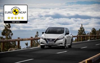 Το νέο Nissan Leaf  κατακτά 5 αστέρια στην ασφάλεια του Euro NCAP