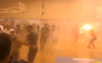 Επεισόδια με τραυματισμούς σε αγώνα μπάσκετ στο Μαρκόπουλο