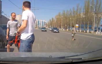 Πεζή στη Ρωσία ζει επικίνδυνα