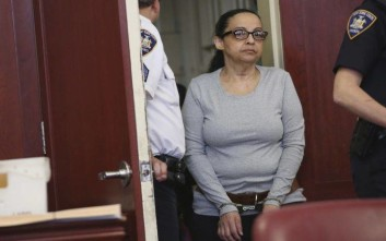 Yoselyn Ortega, a trusted nanny to a well-to-do family, arrives for court proceedings Monday, May 14, 2018, New York. Ortega is set to be sentenced on following her conviction of murder in the 2012 deaths of Lucia and Leo Krim. (AP Photo/Alex Tabak, Pool)