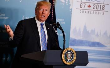 Τραμπ: Ανέντιμες και αδύναμες οι δηλώσεις Τριντό