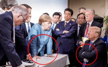 Ειδικός στη γλώσσα του σώματος αναλύει τη διάσημη πλέον φωτογραφία Μέρκελ-Τραμπ