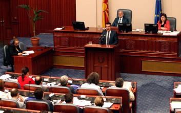 Την διατύπωση του ερωτήματος στο δημοψήφισμα συζήτησαν οι πολιτικοί αρχηγοί στα Σκόπια