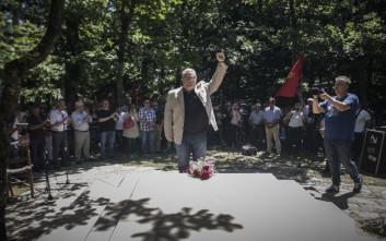 Παρών στο πολιτικό μνημόσυνο του Φλωράκη, ο Δημήτρης Κουτσούμπας