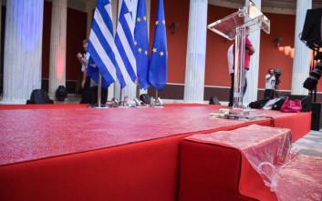 Οι πρώτες εικόνες από τη φιέστα στο Ζάππειο για Eurogroup και χρέος