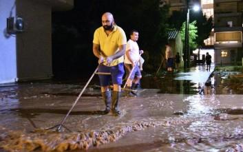 Δρόμοι ποτάμια και πλημμύρες από την επέλαση της «Νεφέλης»