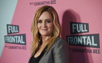 "Samantha Bee, host of ""Full Frontal with Samantha Bee,"" poses at an Emmy For Your Consideration screening of the television talk show at the Writers Guild Theatre, Thursday, May 24, 2018, in Beverly Hills, Calif. (Photo by Chris Pizzello/Invision/AP)"