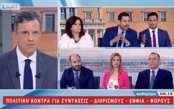 Τηλεοπτικός καβγάς Κυρανάκη-Καφαντάρη και κατηγορίες για «διορισμούς στο Δημόσιο»