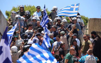 Μικρή ένταση στη διαδήλωση για το Σκοπιανό στο Σύνταγμα