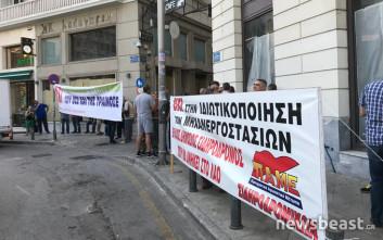 Συγκέντρωση διαμαρτυρίας των σιδηροδρομικών