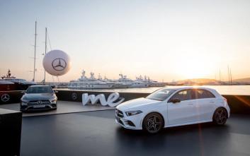 Υποδοχή της νέας Mercedes-Benz A-Class με το εντυπωσιακό live show του Σάκη Ρουβά