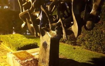 Μπογιές στο Μνημείο του Ολοκαυτώματος στη Θεσσαλονίκη