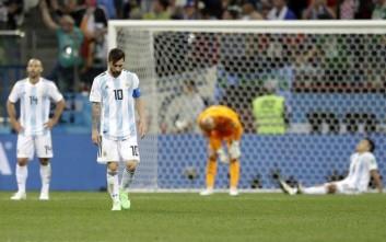 Βρισιές στα αποδυτήρια της Αργεντινής μετά την ήττα από την Κροατία