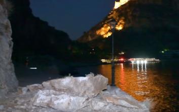 Κατολίσθηση στην ομορφότερη διαδρομή στο Ναύπλιο