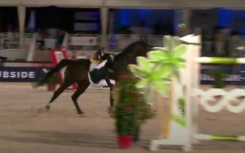 Η Αθηνά Ωνάση έπεσε από το άλογο στους αγώνες στις Κάννες