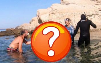 Η θάλασσα της Μυκόνου έκρυβε κάτι που δεν βλέπεις συχνά