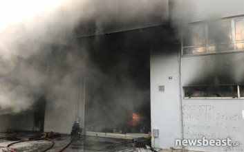 Εκκενώθηκαν προληπτικά σπίτια στο Περιστέρι