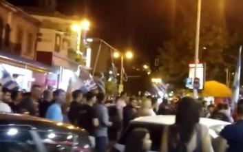 Με κρεμάλες διαδήλωσαν στις Σέρρες για τη συμφωνία με την ΠΓΔΜ