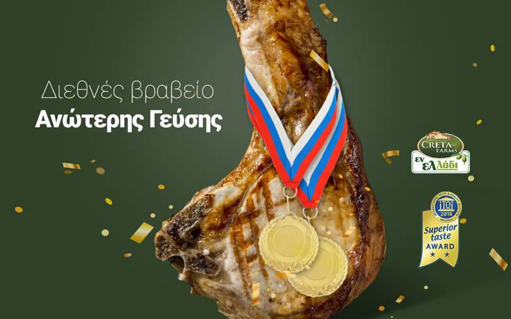 Διεθνές Βραβείο Ανώτερης Γεύσης για το Εν Ελλάδι Pork Steak της Creta Farms