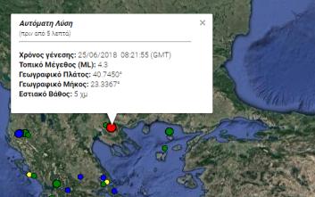 Σεισμός τώρα στη Θεσσαλονίκη