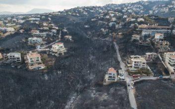Μη κατοικήσιμα 1.218 σπίτια μετά τις φωτιές στην Αττική