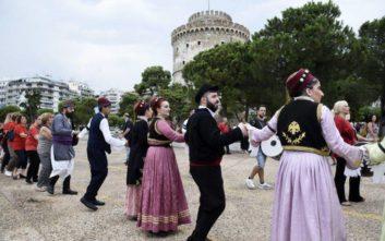 Διαδήλωσαν... χορεύοντας για τη Μακεδονία στη Θεσσαλονίκη