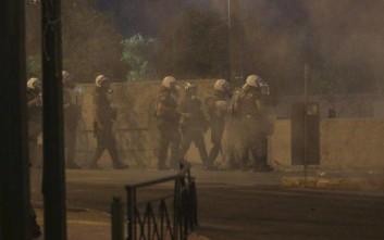 Χημικά στο Σύνταγμα στο συλλαλητήριο για το Σκοπιανό