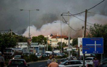 Νέες κυκλοφοριακές ρυθμίσεις στη Ραφήνα λόγω της πυρκαγιάς