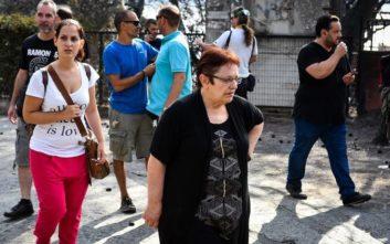 Η Αλέκα Παπαρήγα βρέθηκε εγκλωβισμένη στην περιοχή ανάμεσα στη Νέα Μάκρη και το Μάτι