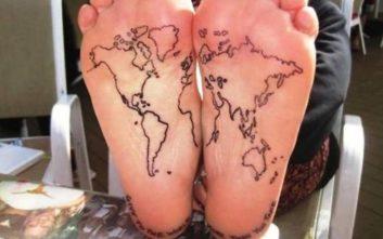 Τατουάζ που τα... πατάς
