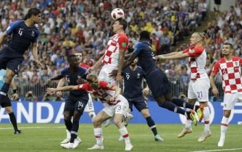 Με 2-1 νικά η Γαλλία την Κροατία στο ημίχρονο