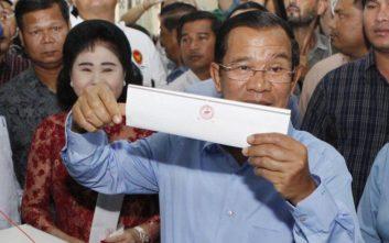 Το κυβερνών Λαϊκό Κόμμα της Καμπότζης ανακοίνωσε ότι κέρδισε στις γενικές εκλογές