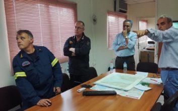 Σε εξέλιξη σύσκεψη στο Κέντρο Επιχειρήσεων της Πυροσβεστικής