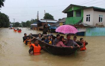 Τουλάχιστον δέκα νεκροί από τις πλημμύρες στη Μιανμάρ